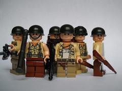 Group Shot! ([funkymân]) Tags: world 2 war lego gis wwii allies amercan brickarms