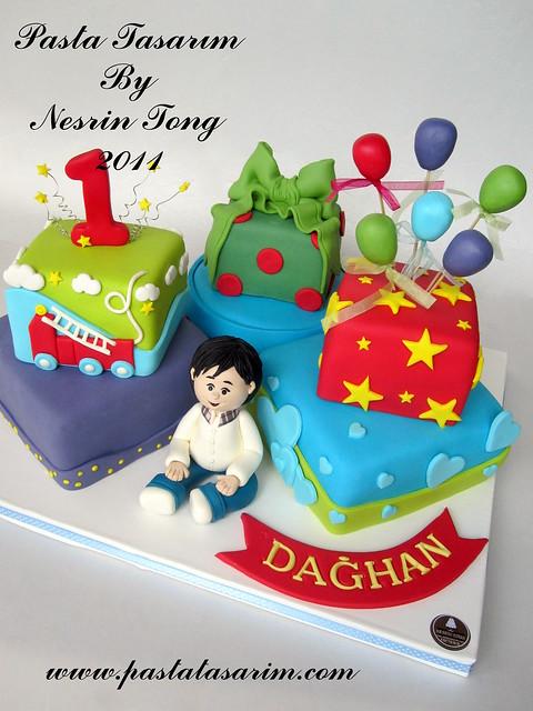 1ST BIRTHDAY CAKE - DAGHAN