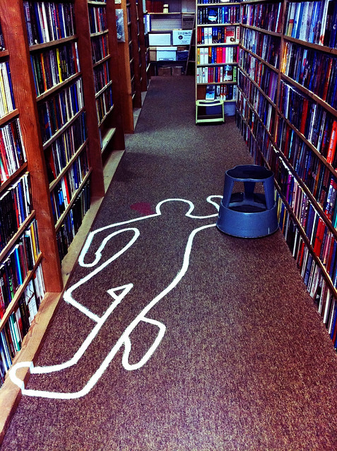 body in the bookstore