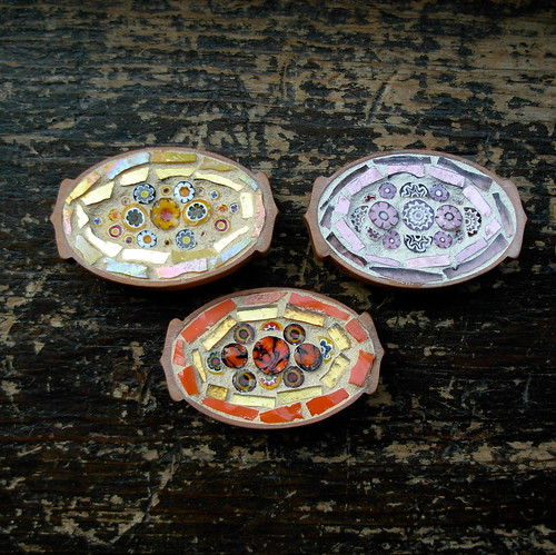 Mosaic Millefiori Brooches by Margaret Almon.