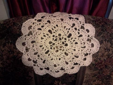 My big ol' doily.  I have no idea what to do with it... just wanted to make a huge doily