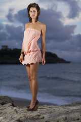 Marion - Biarritz Summer 2010 (Seb Huruguen) Tags: ocean summer cactus sky woman france beach girl beautiful fashion radio canon dark photography eos 50mm rocks pretty dress robe f14 marion system 64 7d heels ez wireless usm seb t fille plage pays basque ef biarritz trigger 540 2010 114 talons sbastien v4 speedlite anglet etpa 540ez huruguen