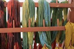 Gefärbte Wolle von Vikingr-Kontor in Haithabu - Wikinger Museum WHH 09-04-2011