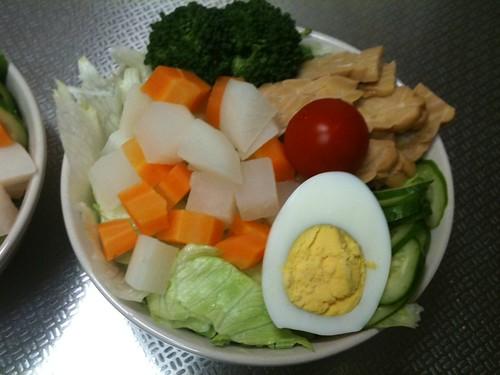 朝食サラダ (2011/4/18)