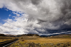 (scifitographer) Tags: road park vacation field clouds canon landscape nationalpark september national yellowstone wyoming 2010 wy canon1740mml bethanthony 5dmkii retroreflectography