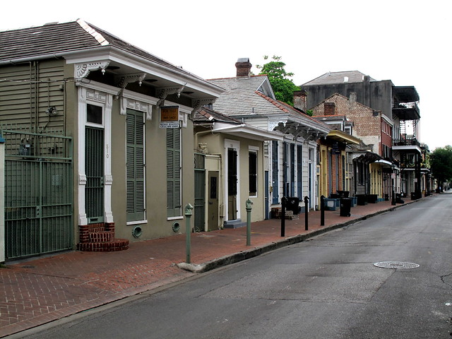Creole Cottages in the Quarter.