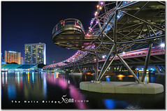 Singapore helix bridge (fiftymm99) Tags: bridge water night marina river lights bay singapore helix colourful nikond300 fiftymm99 flickrawardgallery gettyimagessingaporeq2