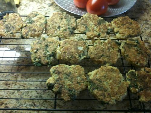 Spinach Quinoa Potato Pancakes