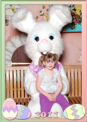 Misty with the Easter Bunny 2011