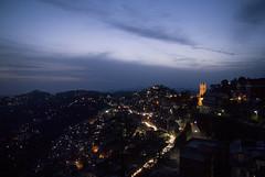 Shimla (Shubh M Singh) Tags: light india green church monochrome architecture night clouds mall lights shimla simla nikon exposure alone peace dusk walk low ridge d200 punjab nikkor himachal pradesh himalyas