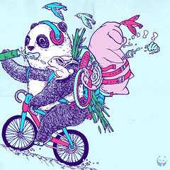 piggyback_flickr (jimmyegg) Tags: family tree bike playground illustration ink paper cycling pig storybook uphill playwithme fatpanda canvaas