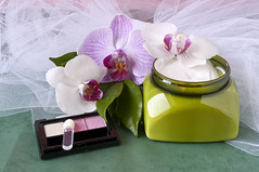 beauty and cleaning products 4 (Photofollies by Carla Zagni) Tags: flower beauty leaves soap cream fresh cleaning oil cosmetics acessories deodorant fragrance cooling aromatherapy orchidfragrance poutporry