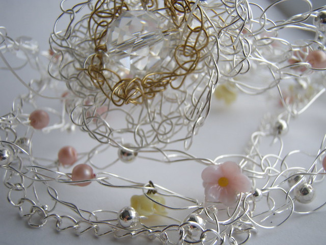 second 'sisters' necklace under construction