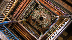 """Nuodeng 诺邓: antique painted ceiling of the temple (avezink) Tags: trip travel countryside village april 中国 yunnan 旅游 province taijitu yunlong 白族 云南省 太极图 """"bai nuodeng 云龙县 诺邓 minority"""" gettychinaq2"""