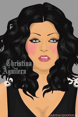 christina aguilera hair 2011. CHristina Aguilera Black hair