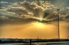 Al Kharj Road, Riyadh, KSA (peterdomantay) Tags: travel sky sun clouds canon industrial generator riyadh hdr 1000d peterdomantay