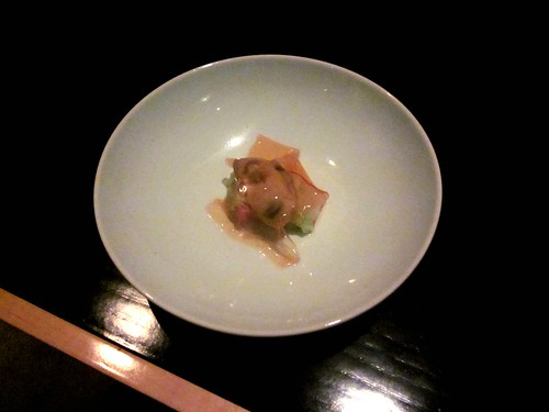 Benu - San Francisco - April 2011 - Oyster, Cabbage, Pork Belly, Fermented Pepper Gelee