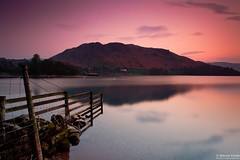 Hallin Fell (.Brian Kerr Photography.) Tags: longexposure sunset sky colour canon fence landscape evening pier nationalpark lakes lakedistrict cumbria boathouse ullswater briankerr hallinfell howtown eos5dmkii briankerrphotography