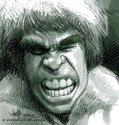 digital sketch study 1 of Lou Ferrigno - The Incredible Hulk