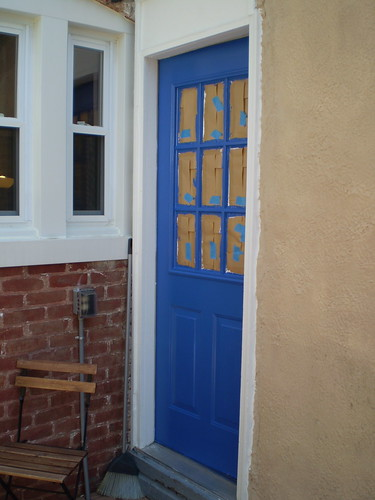 Door after second coat by sarameg