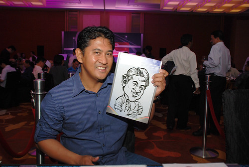 caricature live sketching at Marina Bay Sands (MBS)