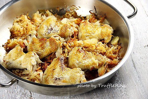 燜烤雞翅和德國酸菜-110426