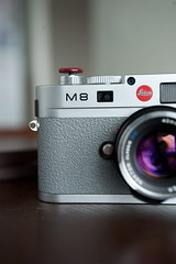 Grey Griptac on Chrome M8 (Christopher Liando) Tags: camera leica toronto ontario wet leather grey hand skin christopher replacement application m8 method apply purell sanitizer liando cameraleather cameraleathercom griptac