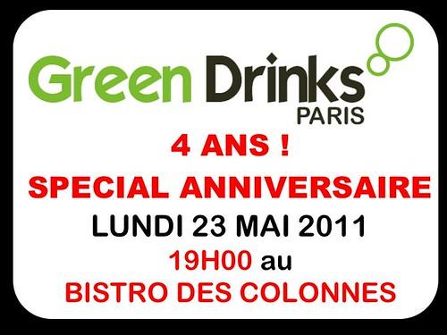 Session GREEN DRINKS PARIS 23 MAI 2011 Spécial Anniversaire