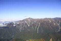 西穂高岳から見た笠ヶ岳