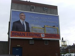 Progressive Unionist Party billboard Castlereagh Road East Belfast
