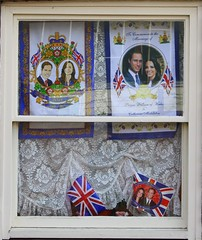 Will & Kate (StewieD) Tags: uk england window unitedkingdom flag flags norwich unionjack unionflag princewilliam royalfamily royalwedding teatowel sashwindow dukeofcambridge princewilliamofwales katemiddleton muspolestreet catherinemiddleton duchessofcambridge rw2011 dukeandduchessofcambridge