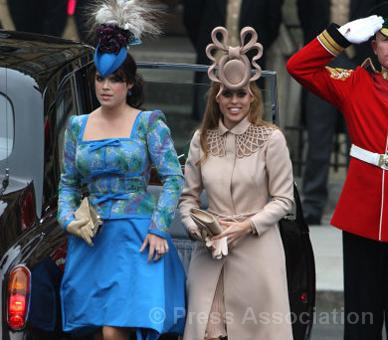 Princesses Eugenie and Beatrice