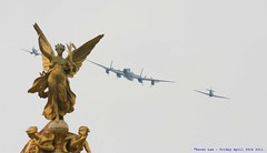 The Royal Fly past...Well, I missed everything else..:( (law_keven) Tags: england london hurricane airplanes royal queen buckinghampalace planes spitfire royalwedding flypast lancasterbomber royalflypast kateandwilliam april29th2011