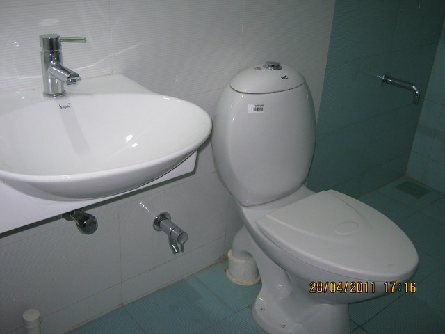 Basin and commode in  Sangria Towers at Megapolis Hinjewadi Phase 3, Pune