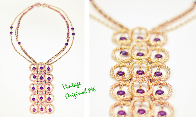 Vintage cirlcles necklace