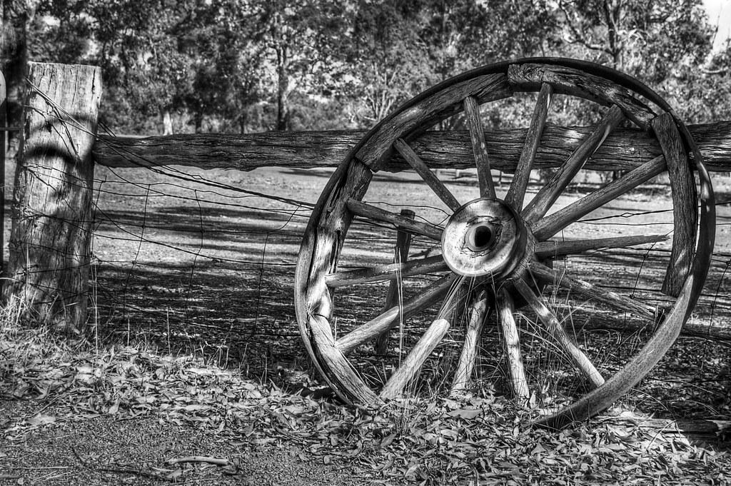 Wagon wheel # 2b B&W