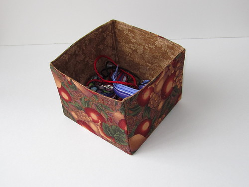 Autumn fabric box