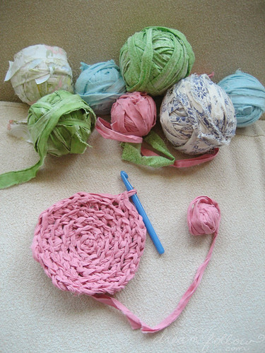 rag rug beginnings
