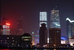 Shanghai Pudong at night (cheesemonster) Tags: skyline modern night buildings dark bladerunner nacht space lit pudong nite futuristic nit thefuture bladerunneresque thefutureisnow skscrapers lpfuturistic