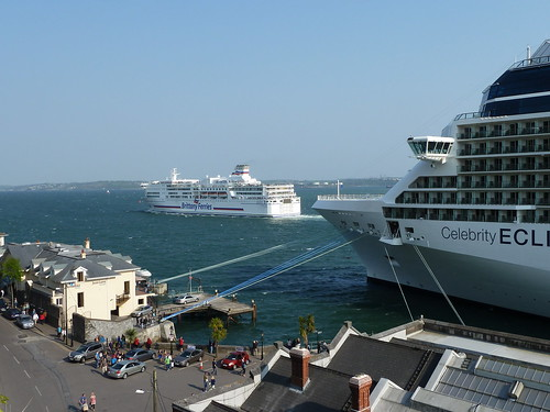 When the Ferry met the Cruise Ship by despod