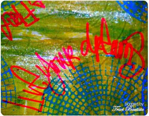 paint & marker on muslin