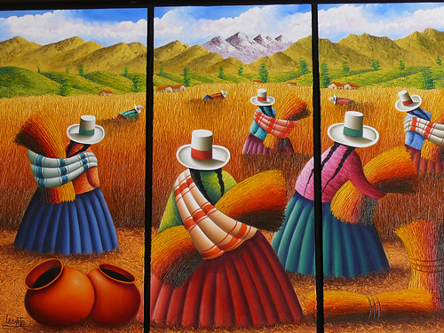 pintura peruana / peruvian painting a set by paramonguino