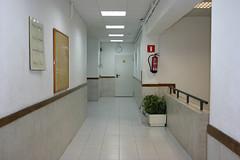 En la imagen se visualiza uno de los pasillos del centro.