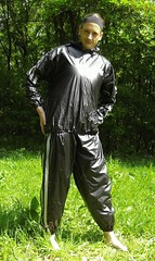 IMGP0462 (Karhu1) Tags: snow shiny suit glossy sweat nylon spandex sauna rainwear pvc leggings snowsuit overall