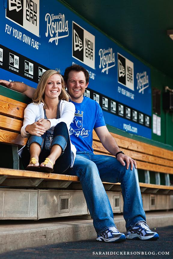 Kauffman Stadium engagement photographers