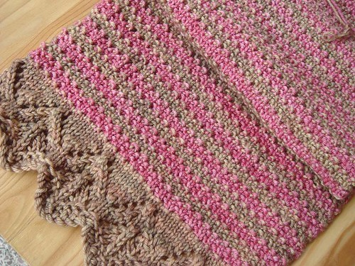 Lace and Stripes scarf