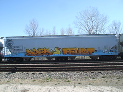 Canard de bain. (Feust AM) Tags: train graffiti duck am bath bain freight canard saer k6a feust lafuz