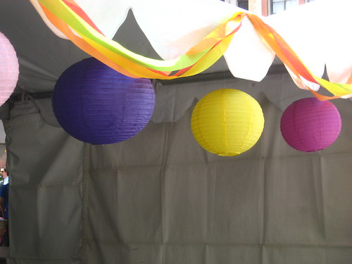 hanging lanterns, street fair