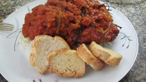 Ossobuco com molho de tomate e arroz branco by Sergio Nedal Riss