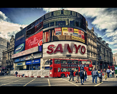 Piccadilly Circus (Explore #11 - May 16, 2011) (Calvin J.) Tags: england color london advertising interestingness nikon europe circus united great kingdom piccadilly landmark historic explore nik nikkor iconic hdr britian 2470mmf28 explored efex d700